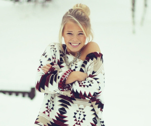 girl, snow, and style image