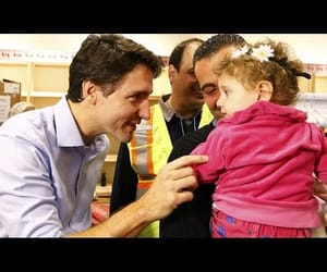 politics, syrian refugees, and justin trudeau image