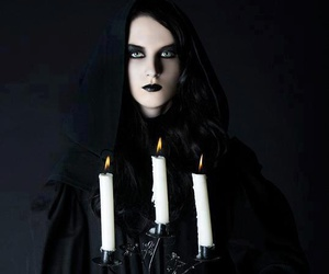 black, dark, and candles image