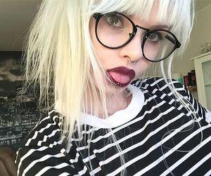 blonde, grunge, and ink image