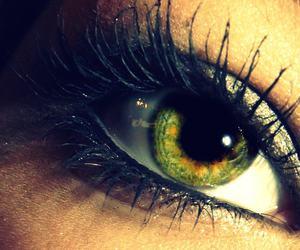 green, eye, and beautiful image