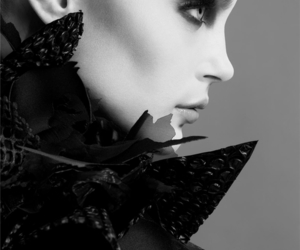 black and white and Jessica Stam image