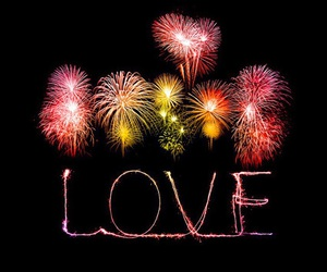 love, fireworks, and in love image