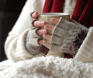 winter, tea, and cold image