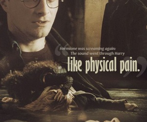 harry potter, hermione granger, and pain image
