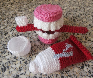 amigurumi, tooth, and dentistry image