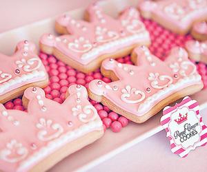 Cookies, pink, and food image