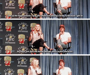 funny, clarke griffin, and the 100 image