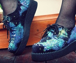 shoes, galaxy, and creepers image