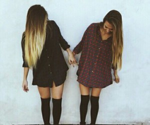 girl, friends, and hair image