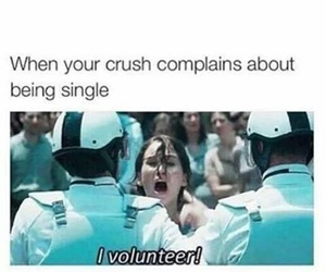 funny, crush, and single image