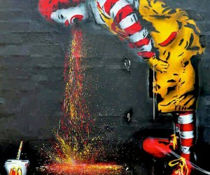 art, McDonalds, and clown image