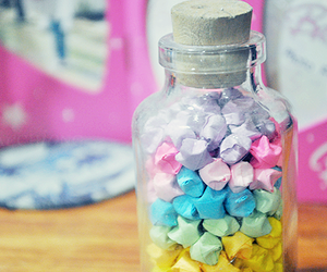 bottle, colorful, and handmade image