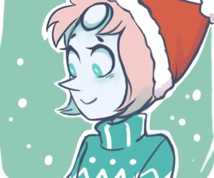 steven universe, christmas, and pearl image