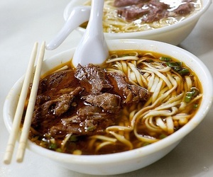 food, noodles, and beef image