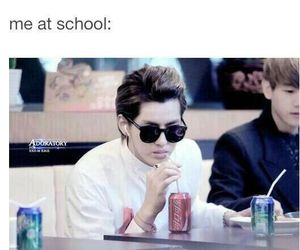 kris, exo, and funny image