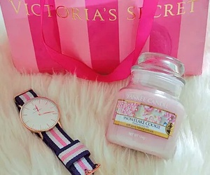 Victoria's Secret, pink, and yankee candle image
