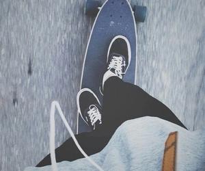 vans, skate, and skateboard image