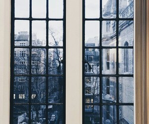 window, city, and winter image