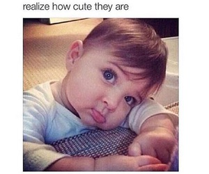 cute, baby, and bae image