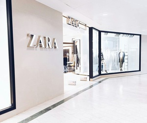 Zara, white, and shop image
