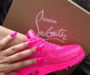 pink, nails, and shoes image