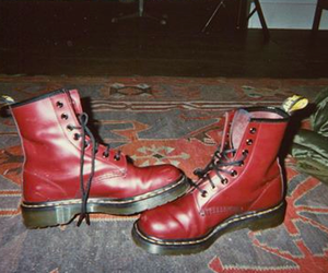 grunge, red, and shoes image