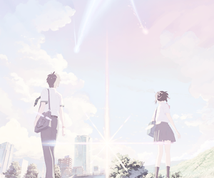 anime, pastel, and couple image