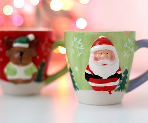christmas, santa, and mug image
