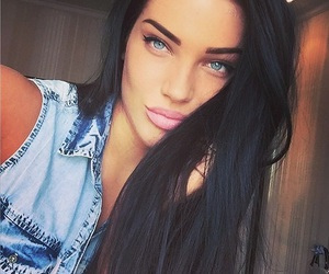 blue eyes and hair image