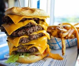 burger, food, and porn food image
