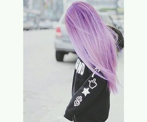 hair, purple, and beautiful image