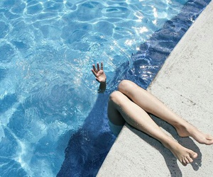 blue, pool, and water image