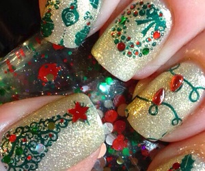 nails, christmas, and xmas image