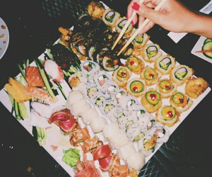fashion, food, and sushi image