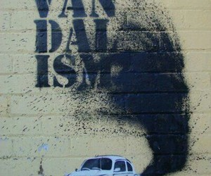 bansky, street art, and vandalism image
