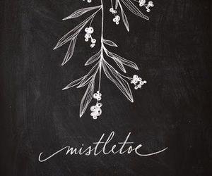 christmas, mistletoe, and kiss image