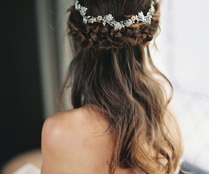 hair, wedding, and braid image