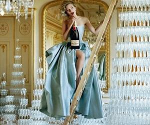 dress, champagne, and Scarlett Johansson image
