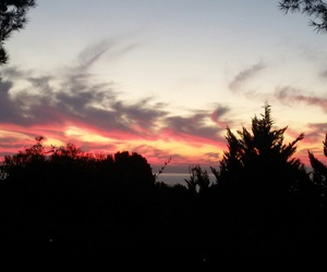 atardecer, pink, and red image