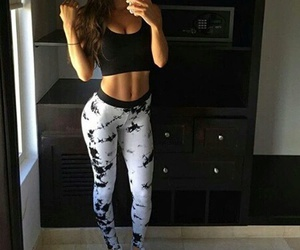 fitness, abs, and girl image
