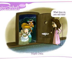 cinderella, jasmine, and pocket princesses image