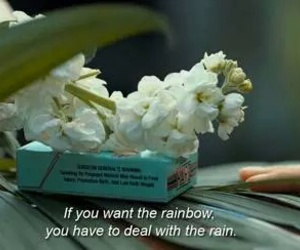 quotes, rainbow, and rain image