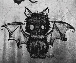 cat, bat, and black image