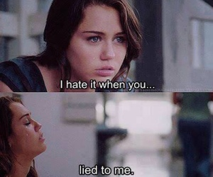 miley cyrus, hate, and lies image