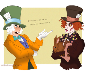 mad hatter and alice in wonderland image