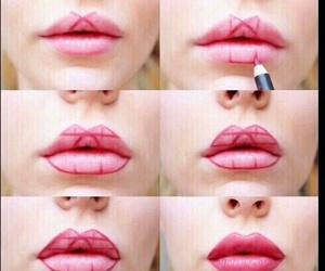 lips, makeup, and diy image