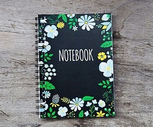 notebook, diy, and flowers image