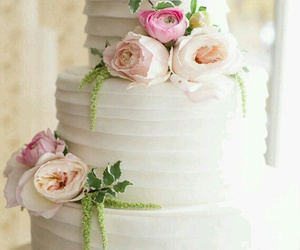 cake, floral, and flowers image