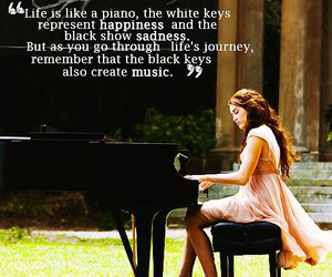 quote, piano, and life image